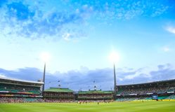 Une correspondance internationale de cricket de jour entre Austra Image stock