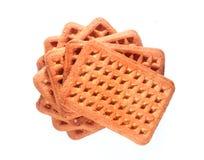 Une couche de biscuits de lait de rectangle Image stock