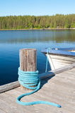 Une couchette de lac photos stock