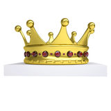 Une couronne de livre blanc et d'or Photo stock