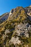 Une crête de montagne. Image stock