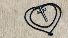 Une croix argentée Image libre de droits