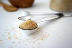 Une cuillère à café de sucre Photographie stock