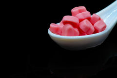 Une cuillerée de sucreries Photo stock
