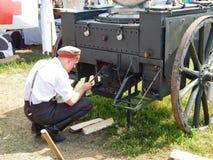 Une cuisine de champ dans un camp militaire Le quatrième festival historique international Images stock