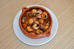 Une cuvette d'escargots Photo libre de droits