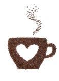 Une cuvette de café avec un symbole de coeur Image libre de droits