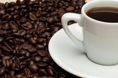 Une cuvette de café chaud Photo libre de droits