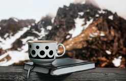 Une cuvette de café chaud Photo libre de droits