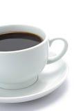 Une cuvette de café noir Photos stock