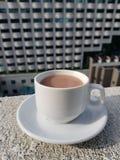 Une cuvette de chocolat chaud Image libre de droits