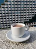 Une cuvette de chocolat chaud Photo stock