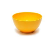 Une cuvette de couleur jaune Photographie stock