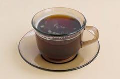 Une cuvette de glace brune avec du café Images libres de droits