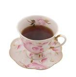 Une cuvette de thé antique avec une plaque Image libre de droits