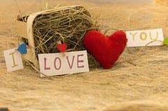 Une déclaration de l'amour Un cadeau pour des amants Image stock