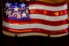 Une décoration américaine de drapeau de style de vintage Photographie stock libre de droits