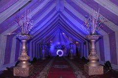 une décoration de tente avec des oeuvres Images stock