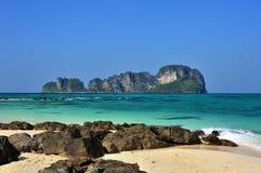 Une d'îles de mer d'Andaman Image libre de droits