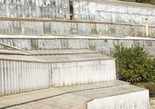 Une d'une vague de serres chaudes honorant l'aqua Medtierranean du Latte à Geno Photos libres de droits