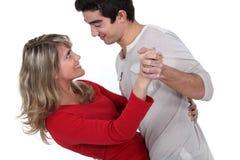 Une danse de couples. Photographie stock