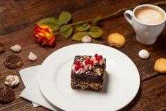 Une date romantique au café Images libres de droits