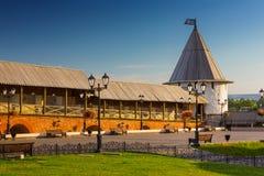 Une de tours de Kazan Kremlin, forteresse russe médiévale, Kaza image libre de droits