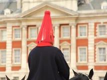 Une des gardes de cheval de la Reine Images libres de droits