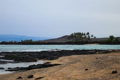 Une des plages les plus belles et fortement les plus ?valu?es au monde - plage de Wailea, Maui, Hawa?, Etats-Unis photographie stock libre de droits