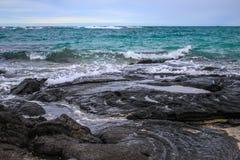 Une des plages les plus belles et fortement les plus ?valu?es au monde - plage de Wailea, Maui, Hawa?, Etats-Unis images libres de droits