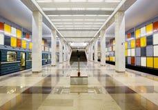 Une des stations de la métro de Moscou Images libres de droits