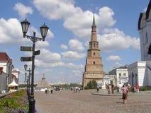 une des tours de Kazan Kremlin Photographie stock libre de droits