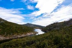 Une des vues plus mémorables du parc national de Kosciuszko photographie stock libre de droits