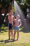 Une douche extérieure Photographie stock libre de droits