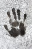 Une empreinte de pas humaine sur la glace Photo libre de droits