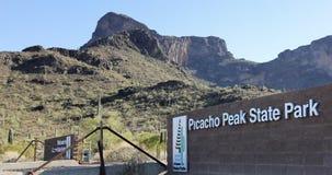 Une entrée au parc d'état de crête de Picacho, Arizona Photos libres de droits