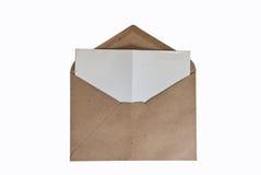 Une enveloppe de cru image stock