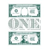Une estacade à claire-voie d'un hommage à l'un billet d'un dollar photo stock