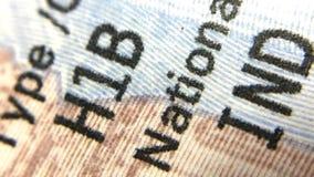Une estados de la visa de América H1B para los indios Imágenes de archivo libres de regalías