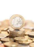 Une euro pièce de monnaie Image libre de droits