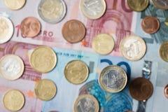 Une euro pièce de monnaie Photos libres de droits