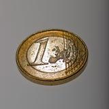 Une euro pièce de monnaie Images stock