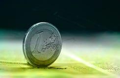 Une euro pièce de monnaie images libres de droits