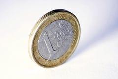 Une euro pièce de monnaie d'isolement Photo libre de droits