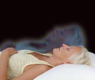 Une expérience astrale femelle de projection Photos stock