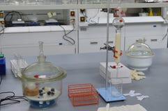 Une expérience de chimie Images libres de droits