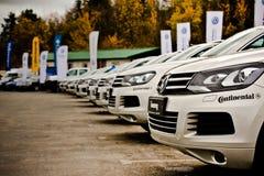 Une expérience tous terrains de Volkswagen Photos libres de droits