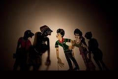 Une exposition de marionnette malaisienne traditionnelle d'ombre Photo libre de droits