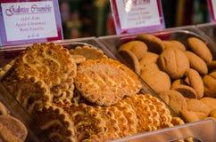 Une exposition sur le marché des biscuits Photo stock