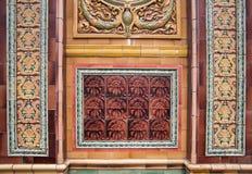 Une façade avec les carreaux de céramique colorés à Belfast photo stock
